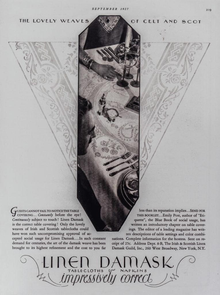 Table Damask Advert
