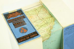Firth of Forth, Folding Map mounted on cloth