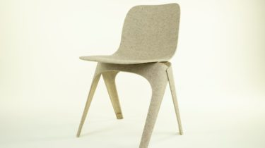 Flax Chair, made of Felted Flax and PLA Fibres