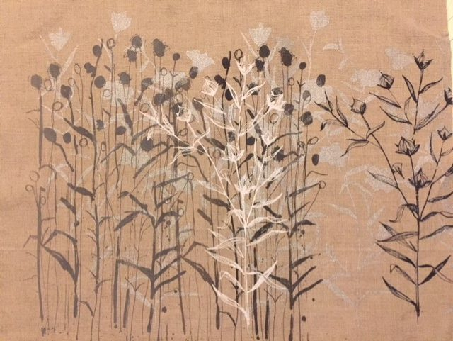 Flax Fields by Lorna Brown