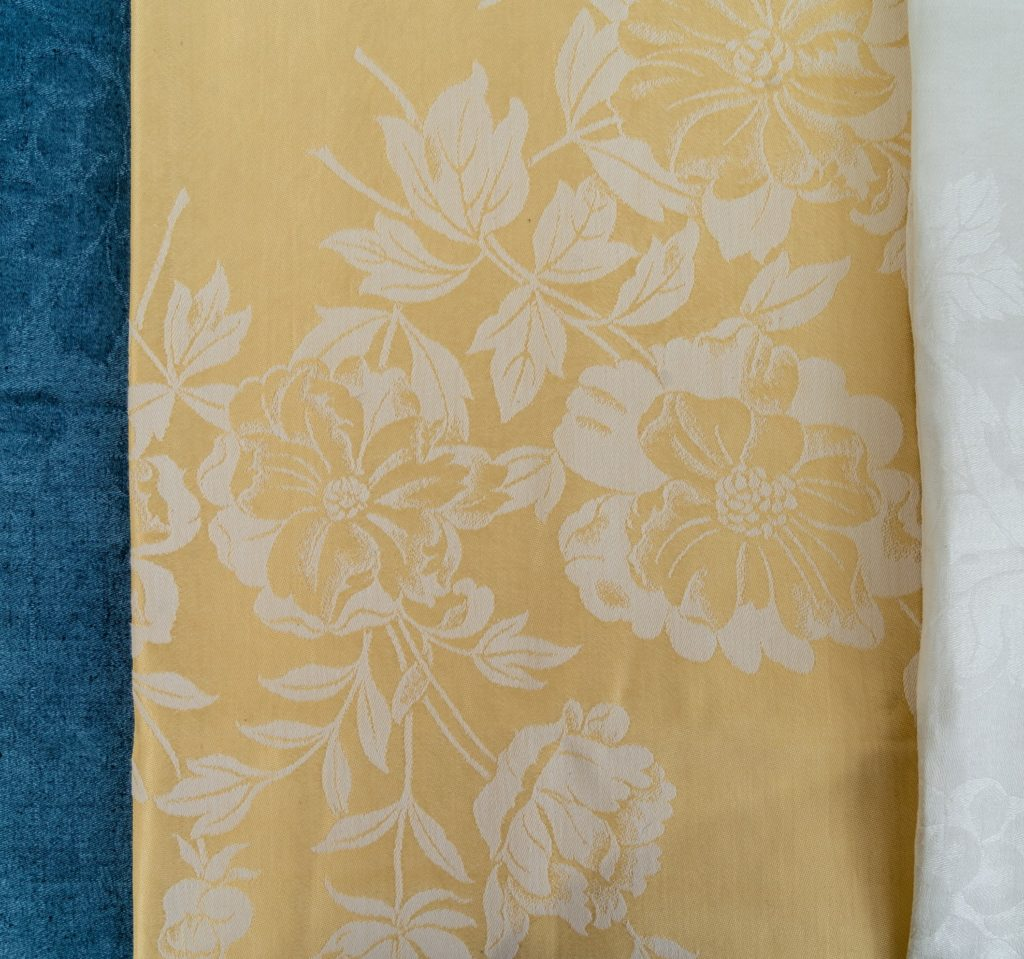 Gold Linen Damask proof cloth
